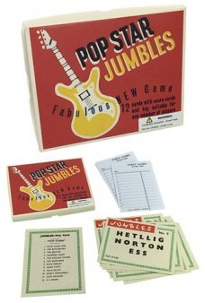 Pop Star Jumbles Game 1960s UK