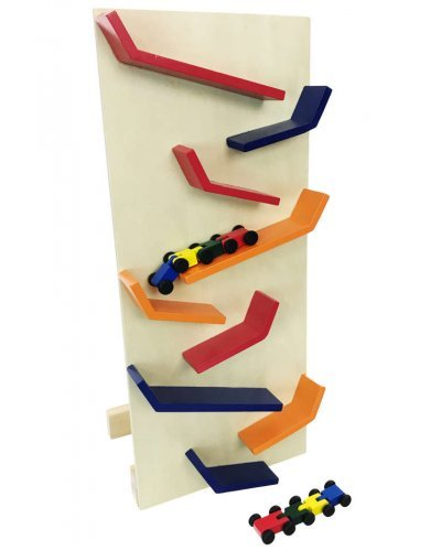Zig Zag Wooden Vertical Racing Set