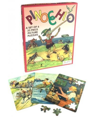 Pinocchio Picture Puzzles 1940 Set of 6
