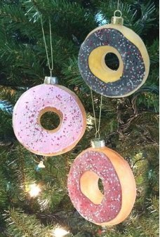 Glazed Donut Christmas Ornament Glass