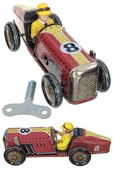 Speedway Racer 8 Red Tin Toy