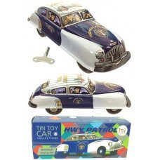 Marx Car Highway Patrol Wind Up Tin Toy