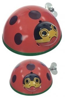 Large Ladybird Beetle Wind Up Tin Toy