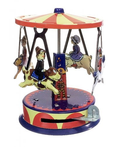 Animals Tin Toy Carousel Windup