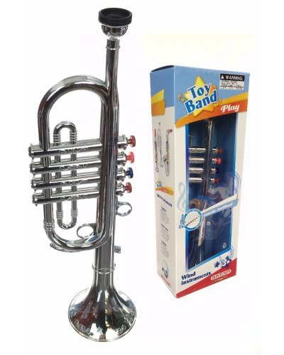 Trumpet Silver Horn Musical Toy