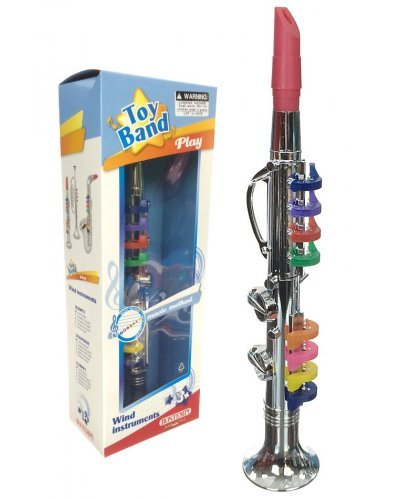 Clarinet Silver Horn Musical Toy