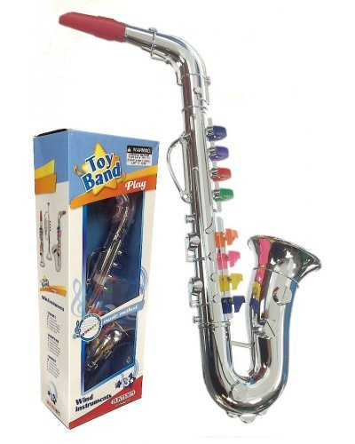 Saxophone Silver Horn Musical Toy