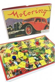 Motoring Race Board Game 1950