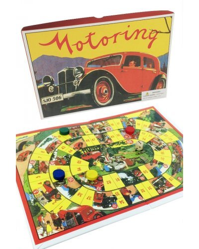 Motoring Race Board Game 1950