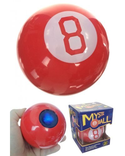 Christmas Wishes 8 Ball Red Toy