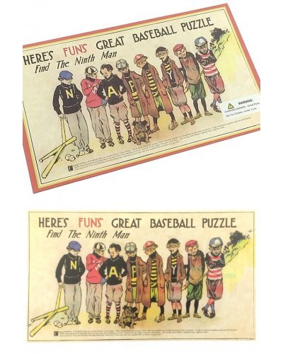 Great Baseball Puzzle Find Ninth Man 1920
