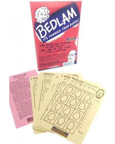 Bedlam English Party Drawing Game 1930