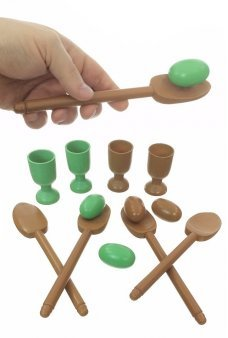 Egg and Spoon Race Wooden Skill Game