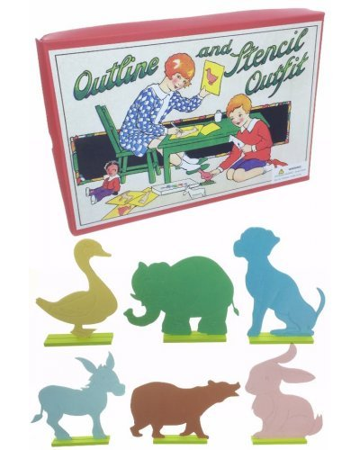 Outline and Stencil Outfit Craft Kit 1940