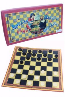 Draughts or Checkers Board Game 1890