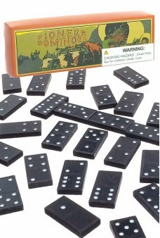 Pioneer Dominoes Western Wooden Set
