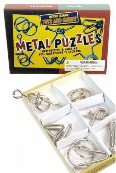 Metal Puzzles Set of 6 Vintage 1960
