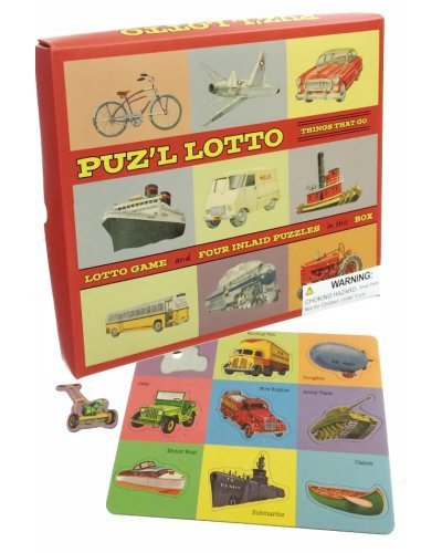 Puz'l Lotto Set of 4 Puzzles Game USA 1950
