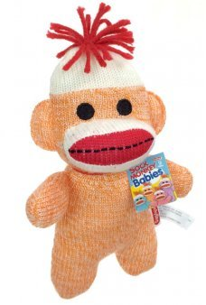 Sock Monkey Baby Soft Orange