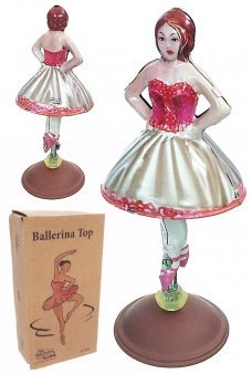 Bella Ballerina Spinning Tin Toy Top