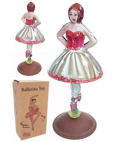 Bella Ballerina Spinning Tin Toy Top