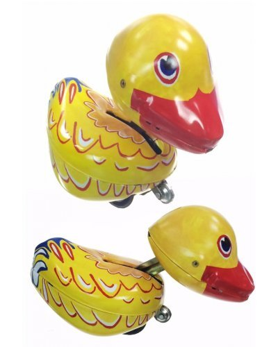 Dizzy Duck the Crazy Bird Tin Toy 1940