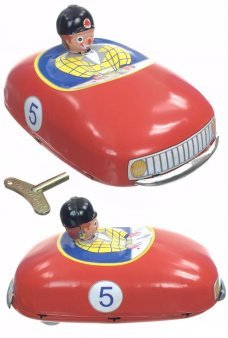 Clown Bumper Car Bump N Go Tin Toy