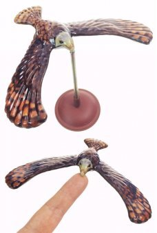 American Bald Eagle Balancing Bird Tin Toy