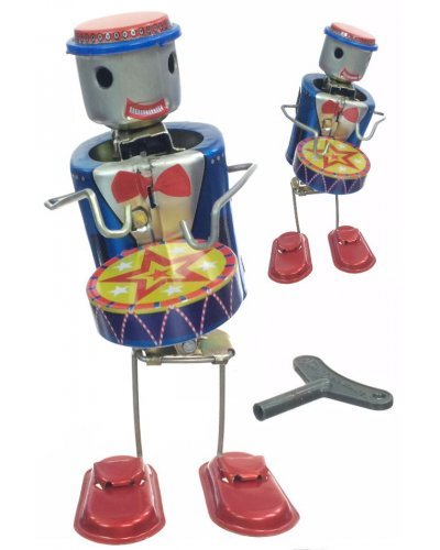 Proto the Robot Drummer Tin Toy