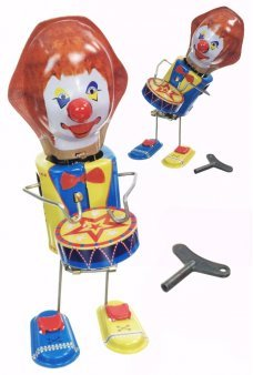ROBO the Clown Drummer Tin Toy