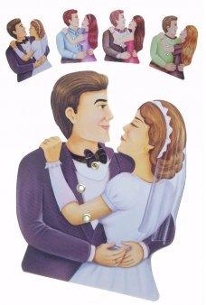 Kissing Couple Clicking Tin Toy
