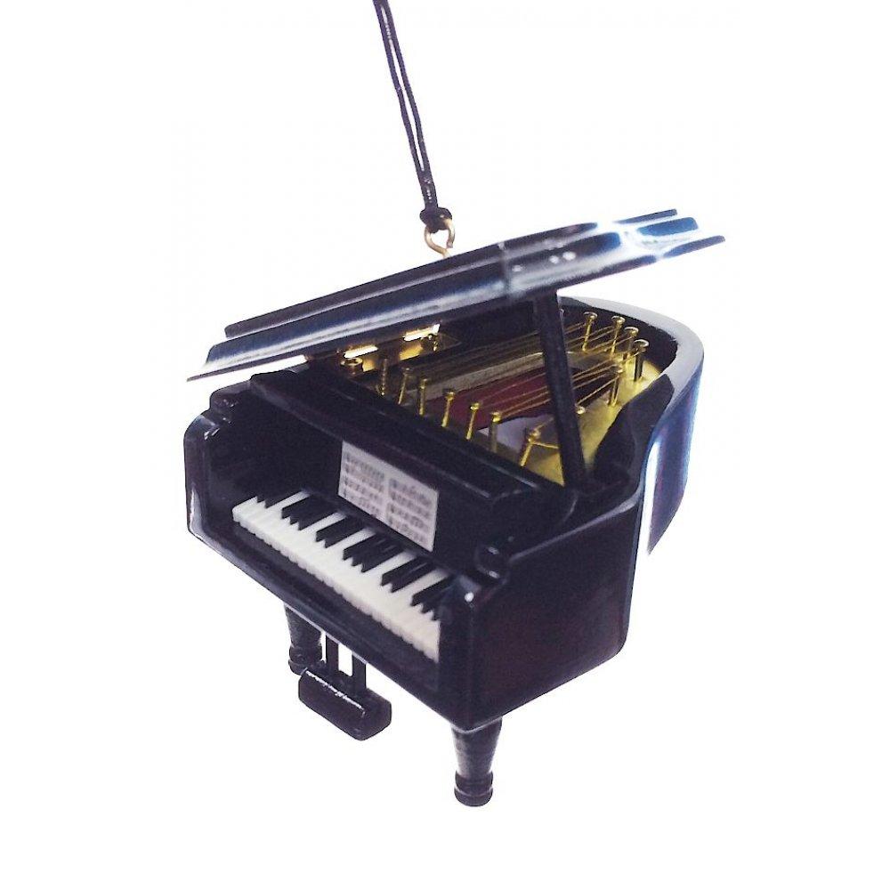 Grand Piano Ornament : Black Wood Musical Instrument