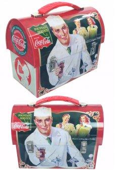 Coca Cola Tin Lunch Box Fountain Service