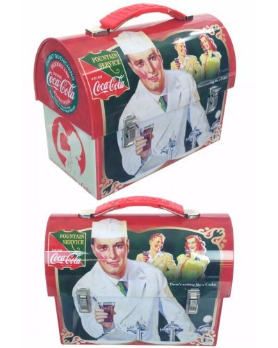Coca Cola Tin Lunch Box Fountain Service