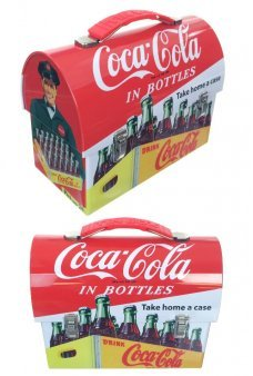 Coca Cola Tin Lunch Box In Bottles