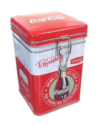 Coca Cola Refreshing Square Tin Lock Top