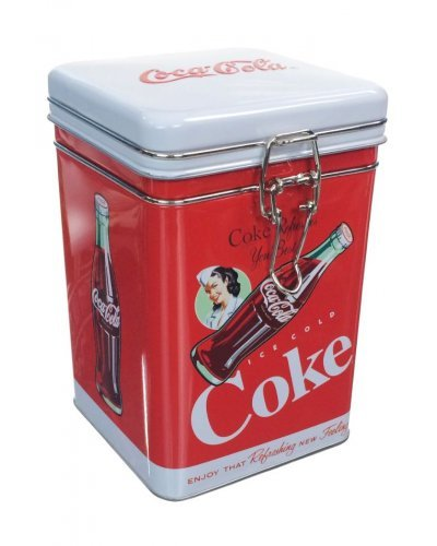 Ice Cold Coke Square Tin Lock Top 1962