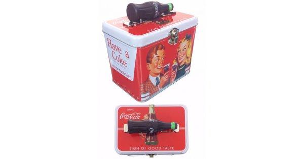 Coca Cola Couple Tin Box : Bottle Handle Sign Of Good
