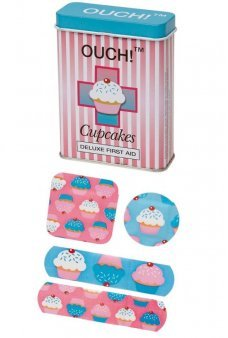 Ouch Cupcakes Bandages in Tin Box