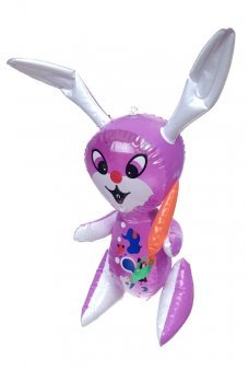Long Ears Bunny Purple Inflatable 15 inch