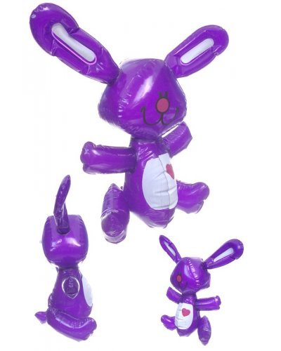 Heart Bunny Purple Inflatable 13 inch