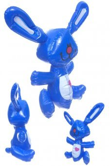 Heart Bunny Blue Inflatable 13 inch