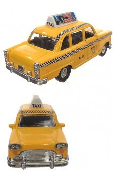 New York Yellow Checkered Cab Liberty Car