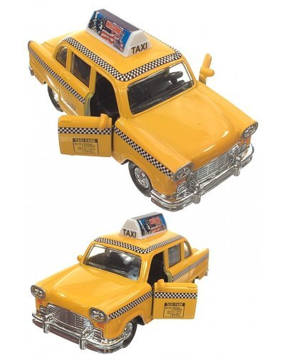 NYC Checker Cab Roof Ad Die-Cast