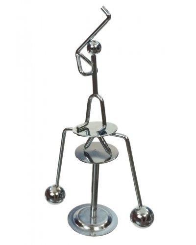 Golfer Swings Silver Balancing Mini