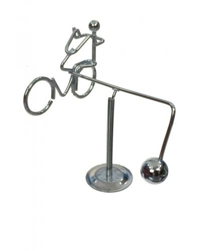 Revolving Bicycle Silver Balancing Mini