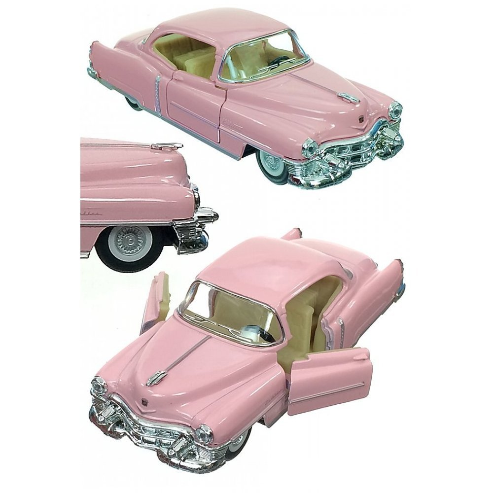 Pink Cadillac 1953 Car Metal Die Cast Series 62 Pull Back