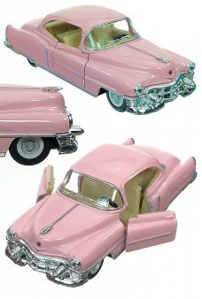 Pink Cadillac 1953 Toy Car Die-Cast