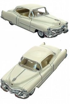 Cadillac 1953 White Toy Car Die-Cast
