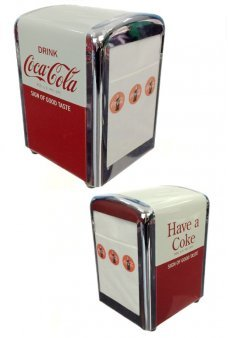 Coca Cola Napkins Dispenser Chrome